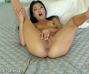 Horny Jade Luv strokes her..