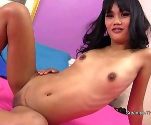 Thai girl with braces banged..