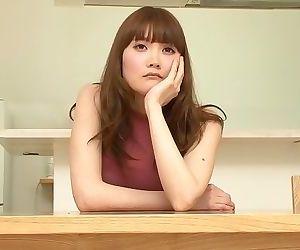 Japanese girl drinks her..