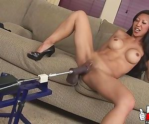 Hot Asian Double Dildo In..