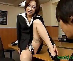 Asian office cutie screwed..